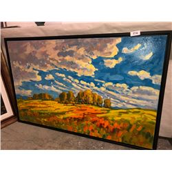"Ken Gillespie ""Summer Clouds"" oil on canvas 30""x48"""