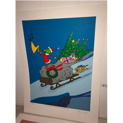 "Chuck Jones print ""A Tale of Two Grinches"", Limited Edition 127/275 16""x20"""