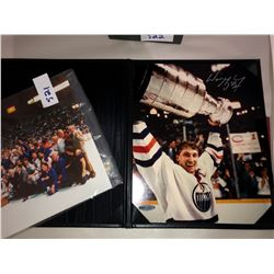 Wayne Gretzky Autographed photo 8x10 holding Stanley Cup, COA by Upper Deck Authentic included group