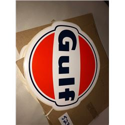 "10 antique Gulf Oil Stickers 8"" diameter"