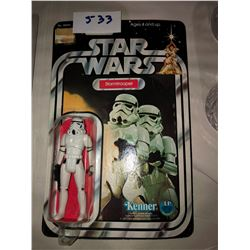 Star Wars Storm Trooper Action Figure 1977, 12 back in original packaging from Kenner, average condi