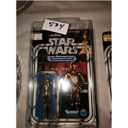 Star Wars C3P0 Action Figure, 1977, 12 back in original packaging, near mint condition