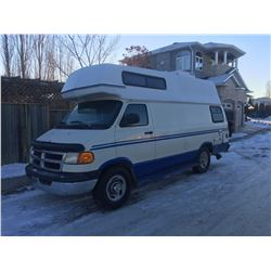 2001 Dodge 2500 Raised Roof, Camper Van with air, tilt, cruise, including roof air conditioning, bat