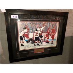 """Henderson Scores for Canada"" framed print 16""x20"""