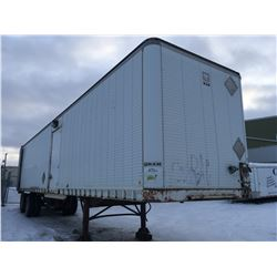 Semi trailer for job sites , fully electrified with power panel lights inside and outside of the tra