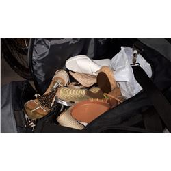 BLACK BAG FULL OF EXPENSIVE LADIES HIGH HEELED SHOES