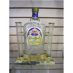 CROWN ROYAL DECANTER DISPLAY STAND