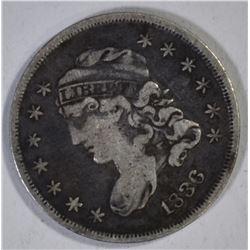 1836 BUST HALF DIME F