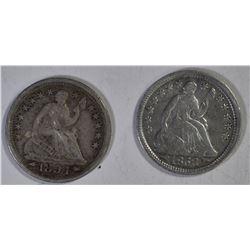 1853 & 1854 SEATED HALF DIME ARROWS
