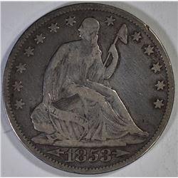 1853 A/R SEATED HALF DOLLAR