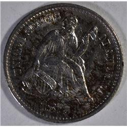 1872-S SEATED HALF DIME, CH BU