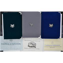 1990, 91 & 93 U.S. PRESTIGE Pf SETS ORIG BOXES/COA