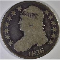 1825 & 1826 BUST HALF DOLLARS,M VG