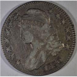 1830 BUST HALF DOLLAR, XF+
