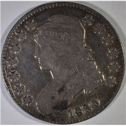 1830 VG & 1834 FINE BUST HALF DOLLARS