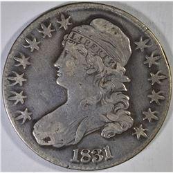 1831 BUST HALF DOLLAR, XF