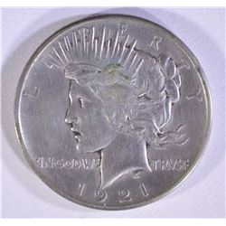 1921 PEACE DOLLAR CH BU OLD CLEANING