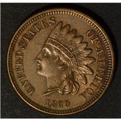 1860 INDIAN CENT, CH BU