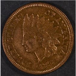 1874 INDIAN CENT, AU/BU