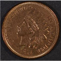 1876 INDIAN CENT, CH BU