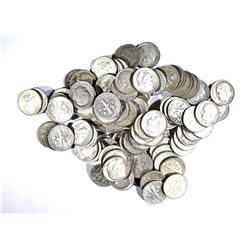 100-90% SILVER ROOSEVELT DIMES: MIXED DATES
