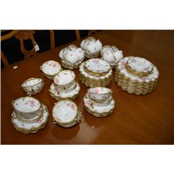 """Large selection of Royal Crown Derby """"Royal Pinxton Roses"""" A1155 bone china including twelve each of"""