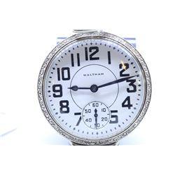 Waltham size 16 pocket watch, grade 630, 17 jewel, serial #11015207, circa 1901, nickel silver 3/4 s