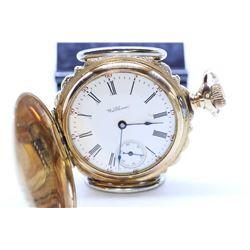 Waltham size 0, 7 jewel pocket watch, grade 61, serial# 8006559, circa 1896. With 3/4 split nickel p