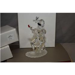 """Swarovski Crystal figure from the Masquerade collection, annual edition 2001 """"Harlequin with origina"""