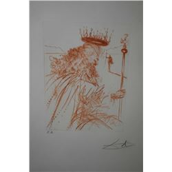 "Framed sanguine etching from the Much Ado Shakespeare series ""King Lear"", Epreuve d'Artiste (artist"