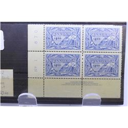 """Two sets of four $1 denomination joined 1951 """"Canada's First Resources"""", postage stamp sets, scott n"""
