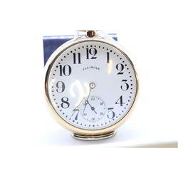 Illinois size 16 pocket watch, 17 jewel grade 604, serial #2630475, circa 1914, 3/4 split nickel pla