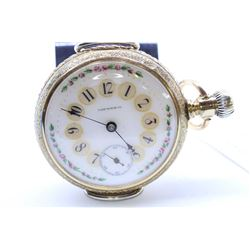 Yale size 18, 11 jewel pocket watch, serial #372406, circa 1883, full nickel plate stem wind and lev