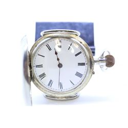 English size 6 half demi hunter pocket watch dates this watch to pre 1900 with split nickel plate st