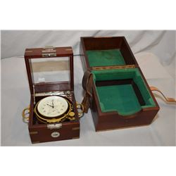 Antique mahogany cased Swiss made Ulysse Nardin mariner's chromometer, working at time of cataloguin