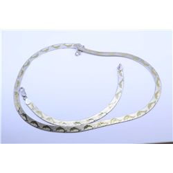 Sterling silver Dolphin motif necklace and matching bracelet