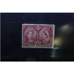Canadian one dollar postage stamp in very fine condition featuring Queen Victoria 1837 and Jubilee 1