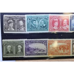 Eight vintage Canadian postage stamps in non-circulated very good to fine condition with sequential
