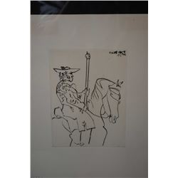 """Framed limited edition lithograph titled """"Picador"""" by Pablo Picasso, 237/245, 14"""" X 10"""""""