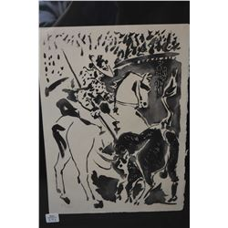 """Framed limited edition lithograph """"Picador II"""" by Pablo Picasso, 237/245, 14"""" X 10"""""""