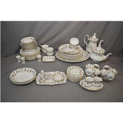 "Large selection or Royal Albert ""Winsome"" bone china dinnerware including ten dinner plates, twelve"