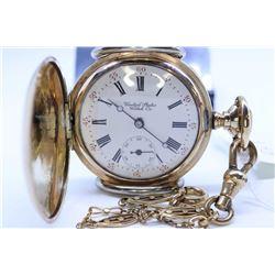 United States Watch Co. size 0, 17 jewel pocket watch, serial # 712412, circa 1895. 3/4 nickel split