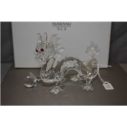 """Swarovski Crystal figure from the Fabulous Creatures collection, annual edition 1997 """"The Dragon"""" wi"""