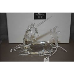 """Swarovski Crystal figure from the Fabulous Creatures collection, annual edition 1996 """"The Unicorn"""" w"""