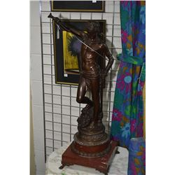 Antique French bronze of David with the head of Goliath by Marius-Jean Antonin Mercie ( Antonin Merc