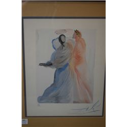 """Framed limited edition coloured lithograph """"Heavenly Canto 18"""" from the Divine Comedy series, 32/150"""
