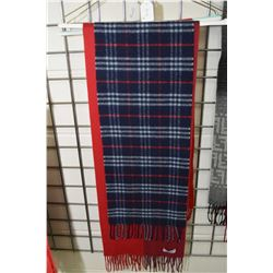 Burberry 100% lambs wool scarf, Amicale 100% cashmere scarf and a Christian Dior wool scarf