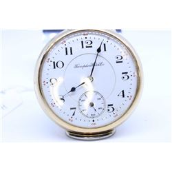 Hampden size 16, 17 jewel pocket watch. Railroad grade Wm. McKinley, serial #32859874 circa 1911, sp