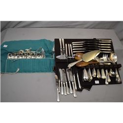 "Selection of Birks sterling ""London Engraved"" flatware including eighteen each of luncheon knives, l"