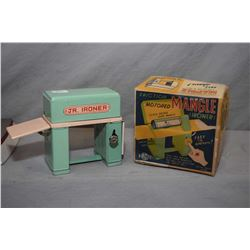 Vintage Japanese tin toy laundry with working friction motor, original box and in near mint conditio